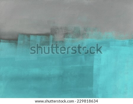 Grey and Turquoise Abstract Art Painting