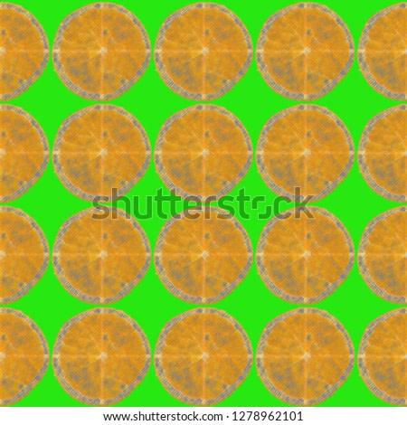 Green wallpaper with oranges in it
