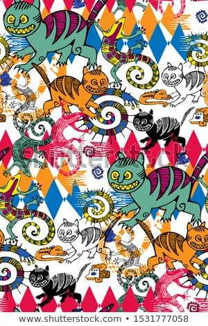 Seamless pattern inspired by the art of primitive people.  Suitable for fabric, wrapping paper and the like