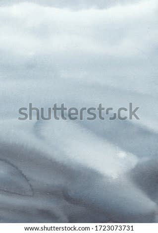 Watercolor abstract background. Reminds sea water on a cloudy day. Gray clouds. Good for textures, packaging.