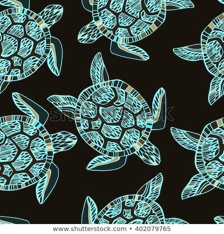 Pattern with turtles