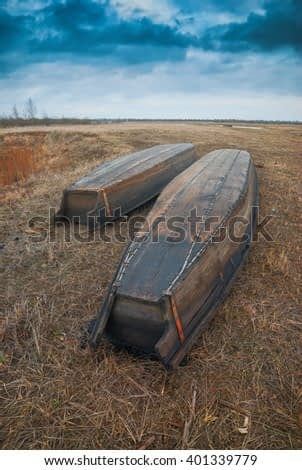Rustic wooden boats.