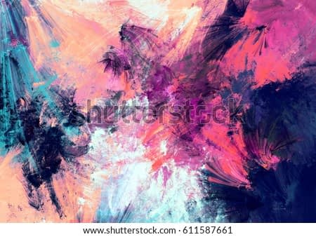 Bright color fireworks. Abstract painting color texture. Artistic motion holiday background. Modern multicolor futuristic dynamic pattern. Fractal artwork for creative graphic design