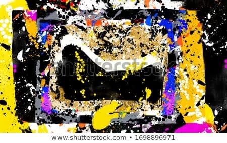 Artwork modern imprint of the oil paint blots digital composition concept in grunge style. Abstract contemporary painting color texture. Artistic background pattern. Distorted art for creative design.