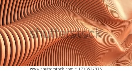 Abstract of wooden pattern, twisted shape, architecture facade details,Perspective of future building design, Parametric wall. 3D rendering.
