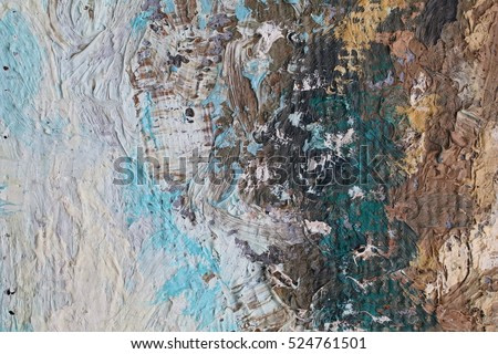 Art painting detailed texture close-up with vivid colorful colors and brush strokes and palette knife strokes