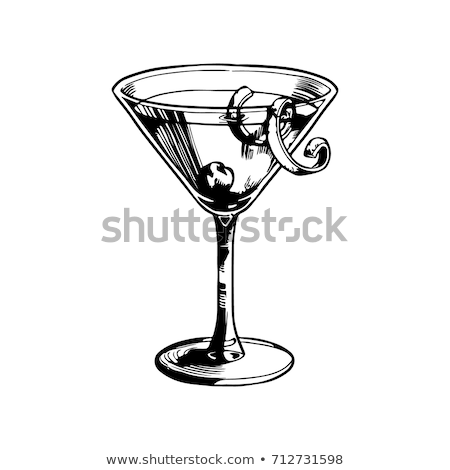 Wall Decor Galore Berry Manhattan Cocktail Vector Illustration