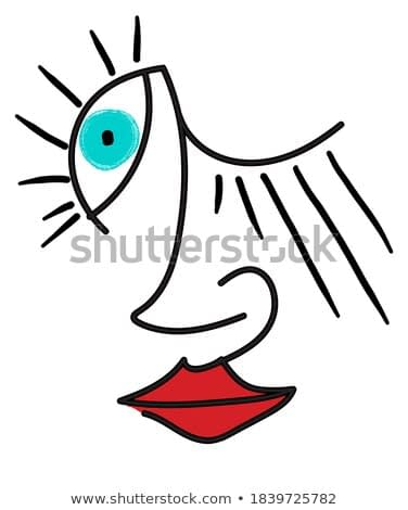 Surrealistic female face with distorted features, Dali, Picasso, Matisse style