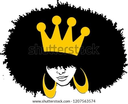 Afro Woman with crown