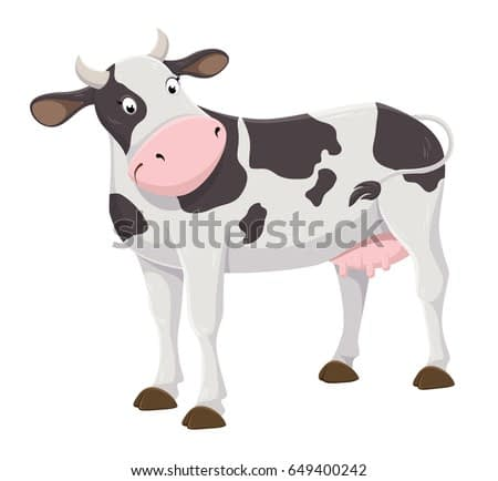 Cute cartoon cow illustration