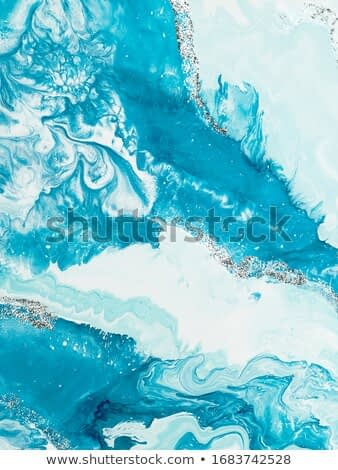 Blue with silver creative abstract hand painted background, marble texture, abstract ocean, acrylic painting on canvas. Modern art. Contemporary art.