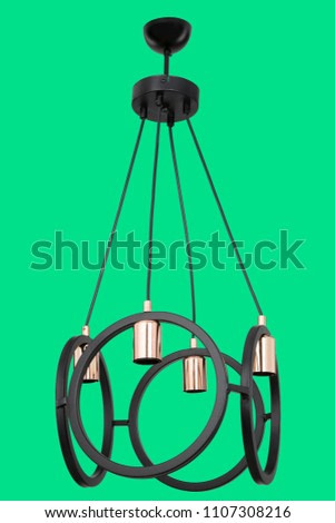 chandelier bright house happy family 3d rendering 3d illustration
