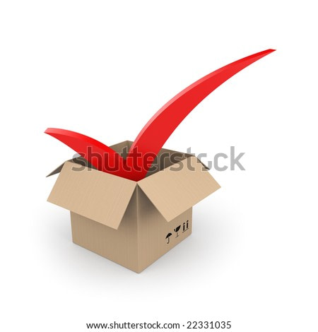Cardboard with check