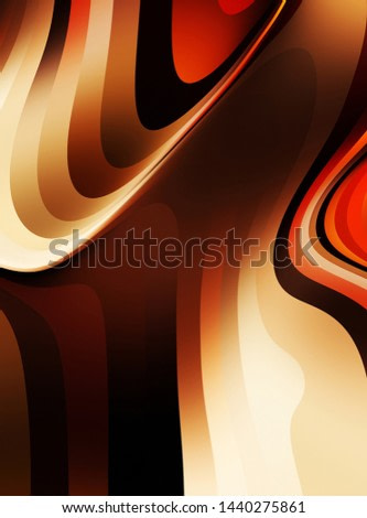 Fluid abstract background with colorful gradient. 2D illustration of modern movement.