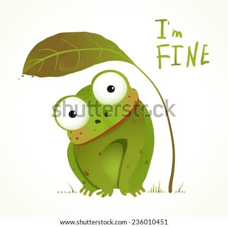 Green Baby Frog Childish Animal Fun Cartoon. Hand drawn watercolor style colorful drawing. Vector illustration EPS10.