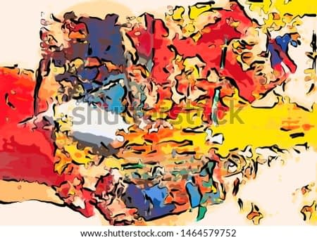 abstract grunge background from color chaotic blurred spots brush strokes of different sizes