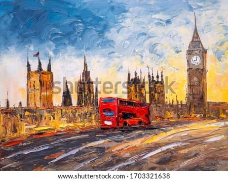 Oil Painting - City View of London