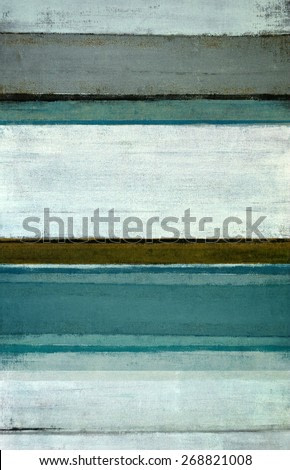 Teal and Brown Abstract Art Painting
