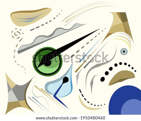 Abstract beige background ,surrealism art style