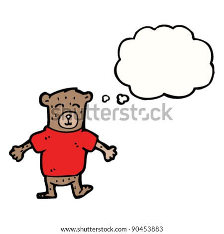 bear in tee shirt with thought bubble