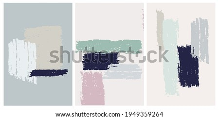 Decor printable art. Set of hand drawn abstract vector illustrations for home interior design
