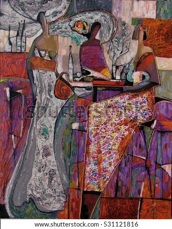 looking for partnerships with artdillers - contact facebookRoman Nogin. woman figure abstract. desktop background