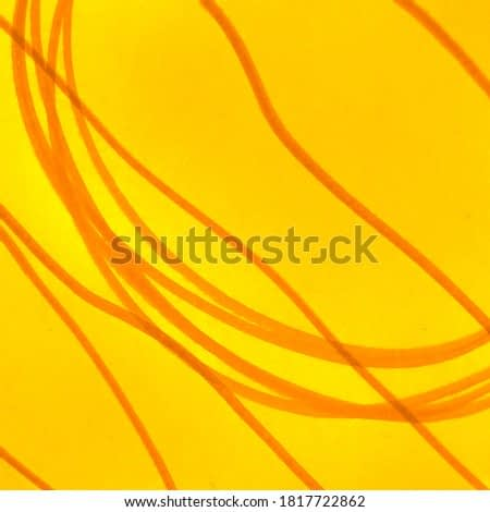 Artistic Dirty Painting. Summer Amber Watercolor Print. Yellow Carrot Lines Hard Grunge Texture. Sunny Lush Lava Emotional Art. Baby Drawing. Mustard Curry Stripes