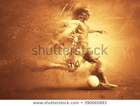 soccer player abstract