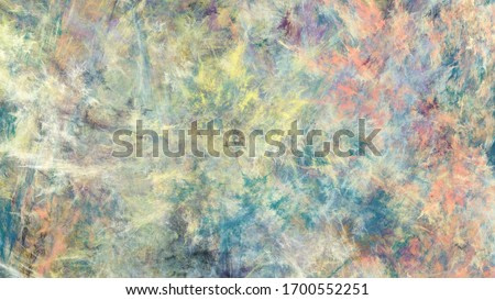 Abstract green and orange marble texture. Colorful fractal background. Digital art. 3d rendering.