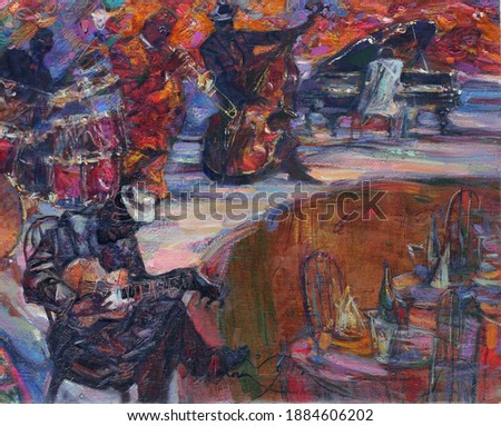 Jazz, celebrities, concert, classical, blues, musicians , poster, painting,
