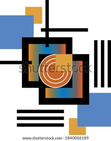 Modern art colorful abstract  background.EPS10 Illustration.