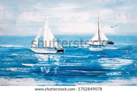 Oil Painting - Sailing Boat