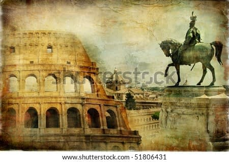 great Rome - artwork in painting style