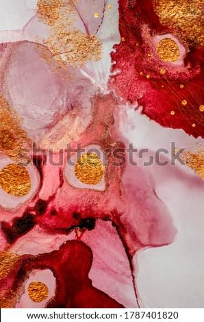 Red passion. Natural luxury. Royal art. Oriental paper texture. Alcohol ink art is an incredibly beautiful and absolutely vibrant art form.  Painting. High quality ink. Masterpiece of designing art.