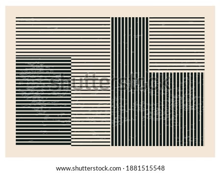 Trendy abstract creative minimalist artistic hand drawn composition ideal for art gallery, wall decoration, interior design, vector illustration
