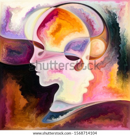 Vivid Minds. Colors In Us series. Design made of human silhouettes, art textures and colors interplay to serve as background for projects on life, drama, poetry and perception