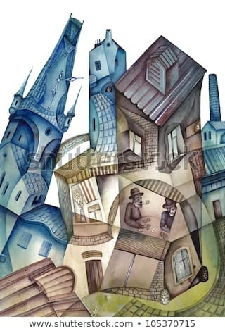 Watercolor illustration of  the City Quarter