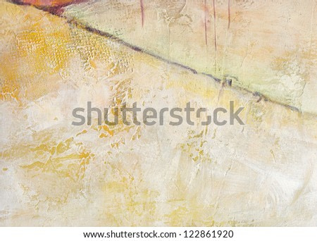 Textured abstract painting. Handpainted grunge background