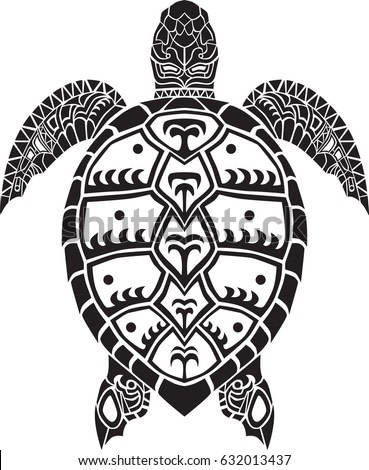 Sea turtle vector animal isolated printable wall art decal silhouette decoration tattoo art design