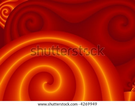 Abstract red spiral from fractal