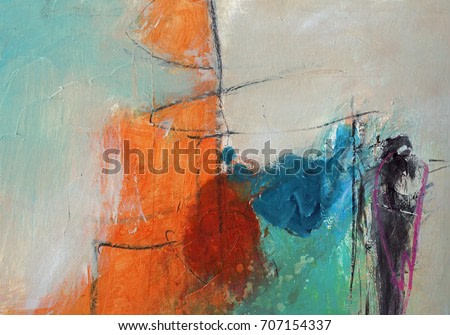 Textured abstract painting. Hand painted colorful background with space for text.