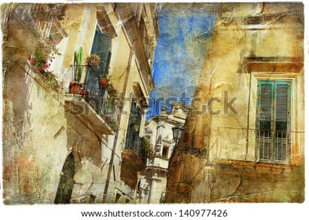 Italian old town streets- Lecce