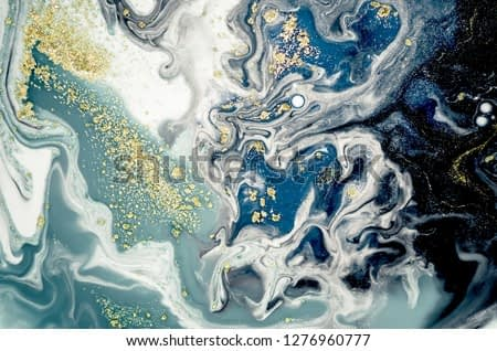 Art, painting- Natural gray color: metallic, silver, steel, iron. Trendy artwork. Swirls of marble and the ripples of agate. Natural pattern, mixed paints, luxurious beauty.