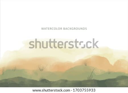 watercolor background, wide green forest