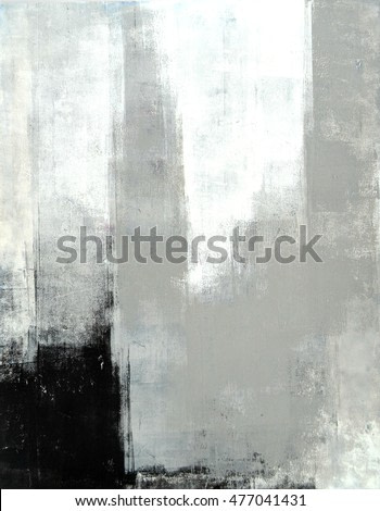 Grey Abstract Art Painting
