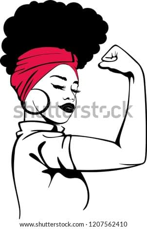 Afro strong woman