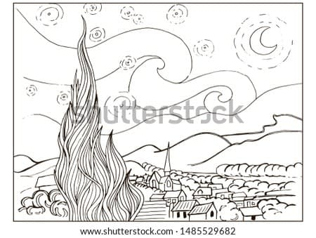 Coloring page with