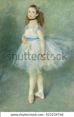 The Dancer, by Auguste Renoir, 1874, French impressionist painting, oil on canvas. Renoir received some good reviews of the painting when exhibited at 'Soci_t_ Anonyme'. Between 1874 and 1886