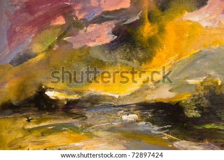 Abstract expressionist painted background