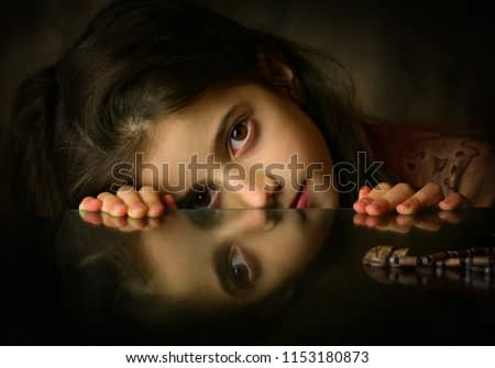 The Girl with Reflection (painting look)